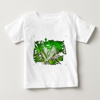 city in 3 point perspective special version green baby t-shirt