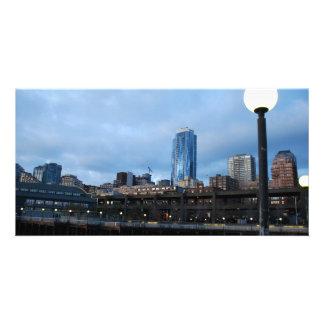 CityscapeEvening041609a Photo Karten Vorlage