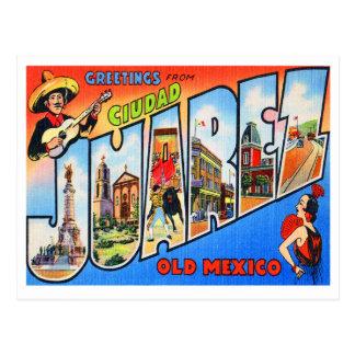 Ciudad Juarez altes Mexiko Postkarte