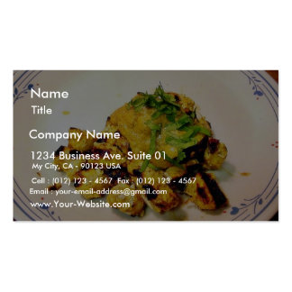 Ckicken Tikka Abendessen, das Nahrungsmittelinder  Visitenkarten Vorlage