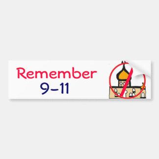 CL erinnern sich Shirt der an Moscheen-9-11 Autoaufkleber