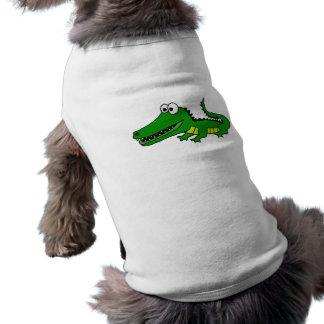 CL lustiger flippiger Alligator Ärmelfreies Hunde-Shirt