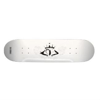 Claddagh (weiß) bedrucktes skateboard