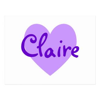 Claire in Lila Postkarten