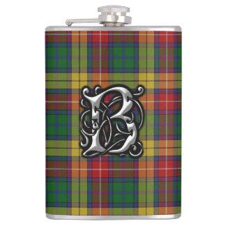Clan-Buchanantartan-alte Schottland-Flasche Flachmann