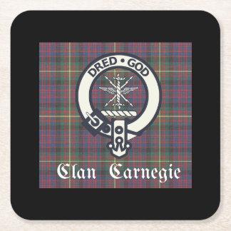 Clan-Carnegie-WappenTartan Rechteckiger Pappuntersetzer