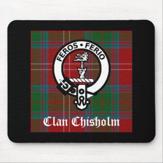 Clan Chisholm Tartan u. Wappen-Abzeichen Mousepads