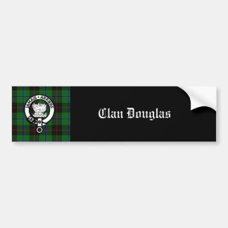 Clan-Douglastartan-Wappen Autoaufkleber