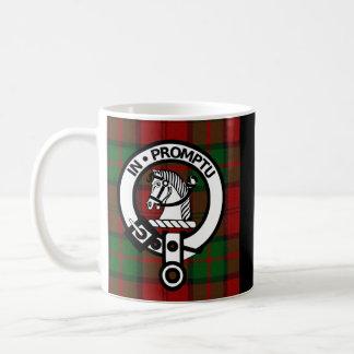 Clan Dunbar Tartan u. Wappen-Abzeichen Kaffeetasse