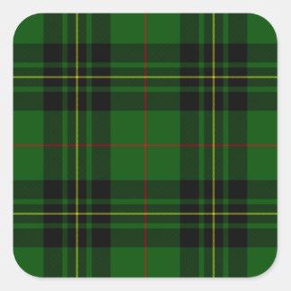 Clan-ForbesTartan Quadratischer Aufkleber