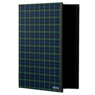 Clan Gordon blaues und grünes Clantartan-Monogramm