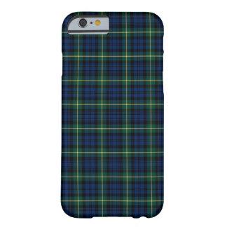 Clan-Gordontartan-blaues, grünes und gelbes Barely There iPhone 6 Hülle