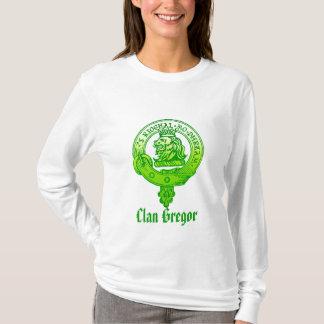 Clan Gregor langes Hülsen-T-Stück T-Shirt