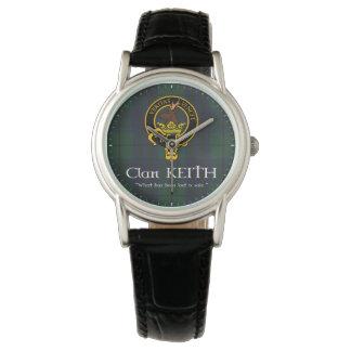 """Clan Keith """"verlor"""" Wappen- u. Tartanuhr Uhr"""