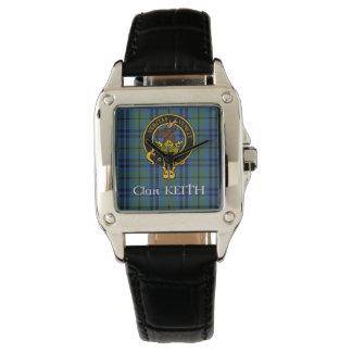 Clan-Keith-Wappen u. alte Tartanuhr Uhr