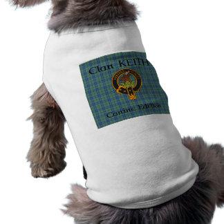 Clan-Keith-Wappen und Tartan-HundeT - Shirt