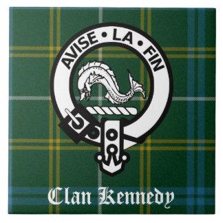 Clan-Kennedy-WappenTartan Große Quadratische Fliese