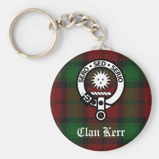 Clan Kerr Wappen-AbzeichenTartan Schlüsselanhänger
