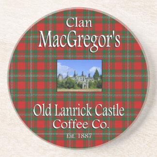 Clan MacGregors alter Lanrick Schloss-Kaffee Co. Sandstein Untersetzer