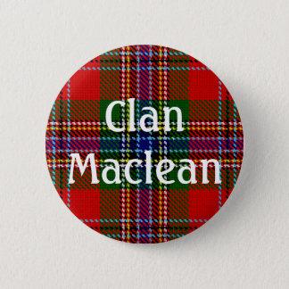 Clan Maclean - Duart - Kleidertartan-Knopf Runder Button 5,7 Cm