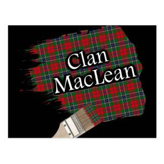 Clan MacLean schottischer Tartan-Pinsel Postkarte