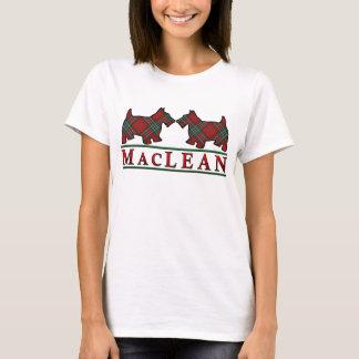 Clan MacLean Tartanscottie-Hunde T-Shirt