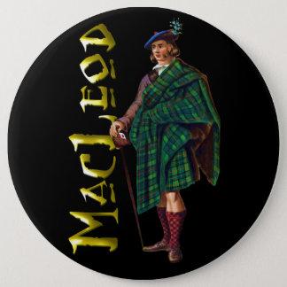 Clan MacLeod alter Scotsman-Knopf Runder Button 15,3 Cm