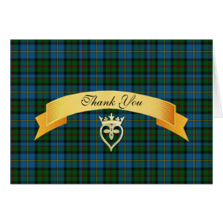 Clan MacLeod Hochzeit danken Ihnen zu kardieren Karte