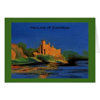 Clan Macleod von Dunvegan notelet Karte
