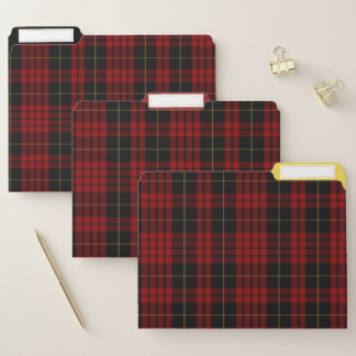Clan MacQueen Tartan-kariertes Datei-Ordner-Set Papiermappe