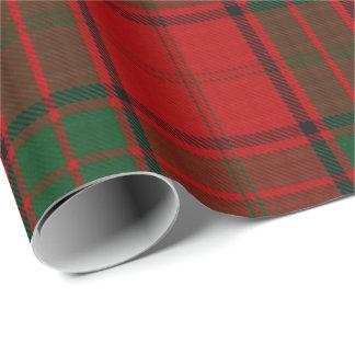 Clan-Maxwell schottischer roter grüner Tartan Geschenkpapier