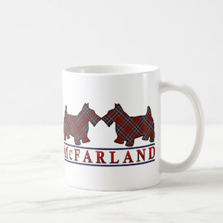 Clan McFarland MacFarlane Tartanscottie-Hunde Kaffeetasse