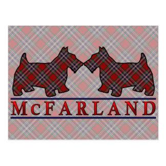 Clan McFarland MacFarlane Tartanscottie-Hunde Postkarte