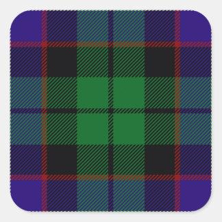 Clan Mitchell Tartan Quadratischer Aufkleber