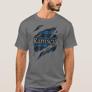 Clan Ramsay Ramsey blauer Jagdtartan-Geist T-Shirt