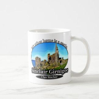 Clan-Sinclair-Schloss Sinclair Girnigoe Schottland Kaffeetasse