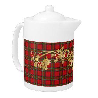 Clan-Stewarttartan-Muster u. schottische Distel