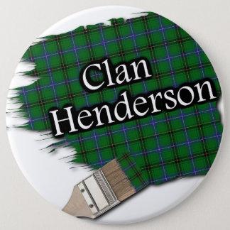 ClanHendersontartan-Pinsel Runder Button 15,3 Cm