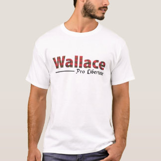 Clantartan-Namen-Motto Wallaces schottisches T-Shirt