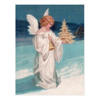 Clapsaddle: Weihnachtsengel mit Bell Postkarten