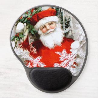 Clapsaddle: Weihnachtsmann mit Stechpalme Gel Mousepads