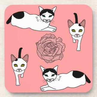 Clara- und Casper-Katzenmuster Untersetzer