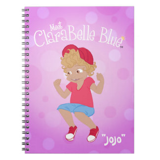 "ClaraBelle blaues gewundenes Notizbuch - ""JoJo "" Notizblock"
