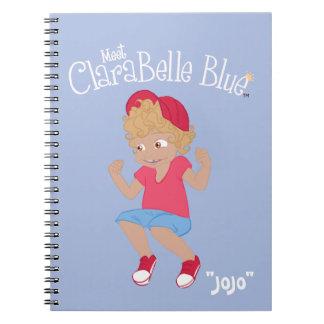 "ClaraBelle blaues gewundenes Notizbuch - ""JoJo"" Notizblock"