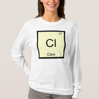 Clarenamenschemie-Element-Periodensystem T-Shirt