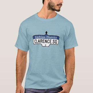 Clarence Quadrat, Toronto-Straßenschild T-Shirt