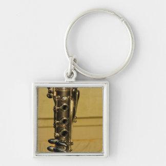 Clarinet-Sonnenuntergang keychain Schlüsselanhänger