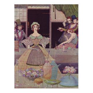 Clarkes Edgar Allan Poe-Illustrationen Postkarte