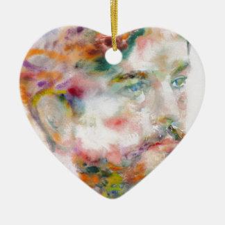 Claude Debussy - Aquarellporträt Keramik Ornament