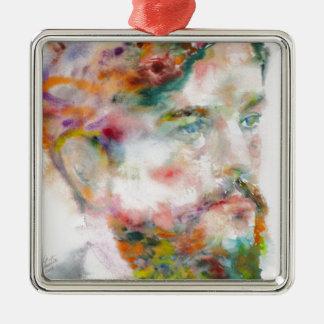 Claude Debussy - Aquarellporträt Silbernes Ornament